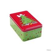 Butlers Peanuts Dose Snoopy auf Baum rechteckig klein grün-rot