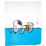 Butlers Peanuts Duschvorhang Snoopy schwimmend