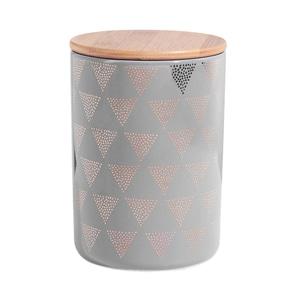 Butlers Queen It Aufbewahrungsdose Dreiecke 1,1 l grau-gold