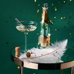 Butlers Golden Twenties 4x Champagnerschale mit Goldrand 400ml