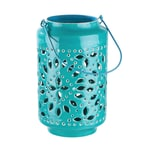 Butlers Blue Marocco Laterne Höhe 25 cm