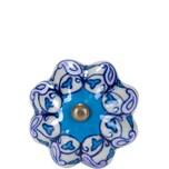 Butlers Open Möbelknopf Ornament blau