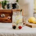 Butlers Refresh Trinkglas Mason mit Deckel 450 ml transparent