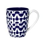 Butlers Indigo Sky Tasse TUpfen 350 ml blau-weiss