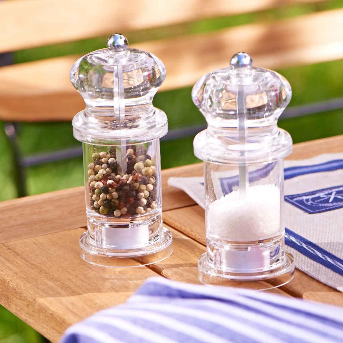 Butlers Spice Shuttle Salz- & Pfeffermühlenset transparent