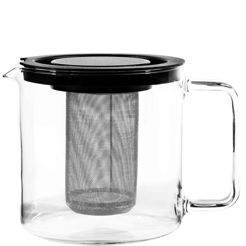 Butlers Earl Teekanne mit Metallsieb transparent