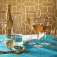 Butlers Golden Twenties Wasserglas mit Goldrand 300 ml transparent