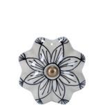 Butlers Open Möbelknopf Ornament dunkelblau