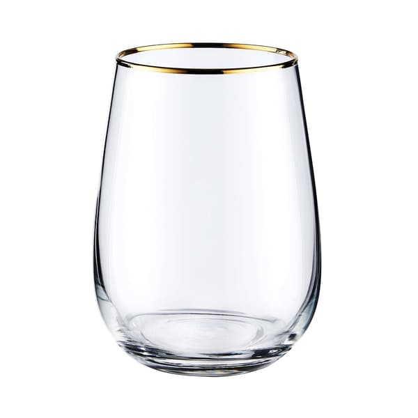 Butlers Touch Of Gold Glas mit Goldrand 590ml