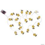 Butlers Peanuts LED Papierlichterkette Woodstock 20 Lichter gelb
