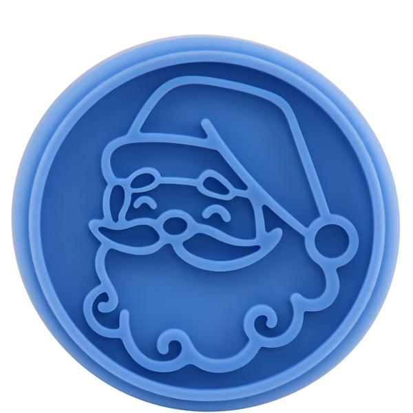 Butlers Biscuit Keksstempel Weihnachtsmann Weihnachtsplätzchen Stempel Plätzchenstempel blau