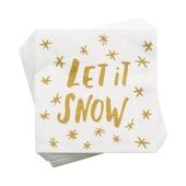 Butlers Après Papierserviette Let it Snow weiss