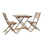 Butlers Safari Bambus Set aus 1 Tisch + 2 Stühle braun