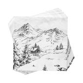 Butlers Après Papierserviette Alpen weiß