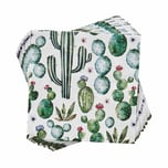 Butlers Après Papierserviette Kaktus dunkelgruen