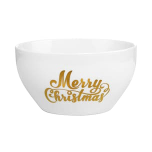 Butlers White Xmas Schale Merry Christmas gold-weiss