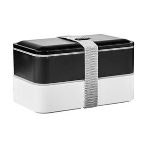 Butlers Snack Pack Lunchbox inkl. Besteck schwarz/weiß