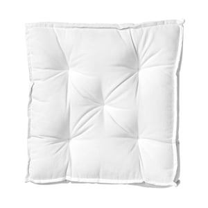 Butlers Solid Sitzauflage 40x40 cm weiß