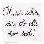 """Butlers Après Papierserviette """"Oh wie schön"""" weiss"""