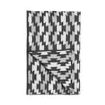Butlers Easy Ethno Decke Ethnoprint 150x200 cm grau-schwarz