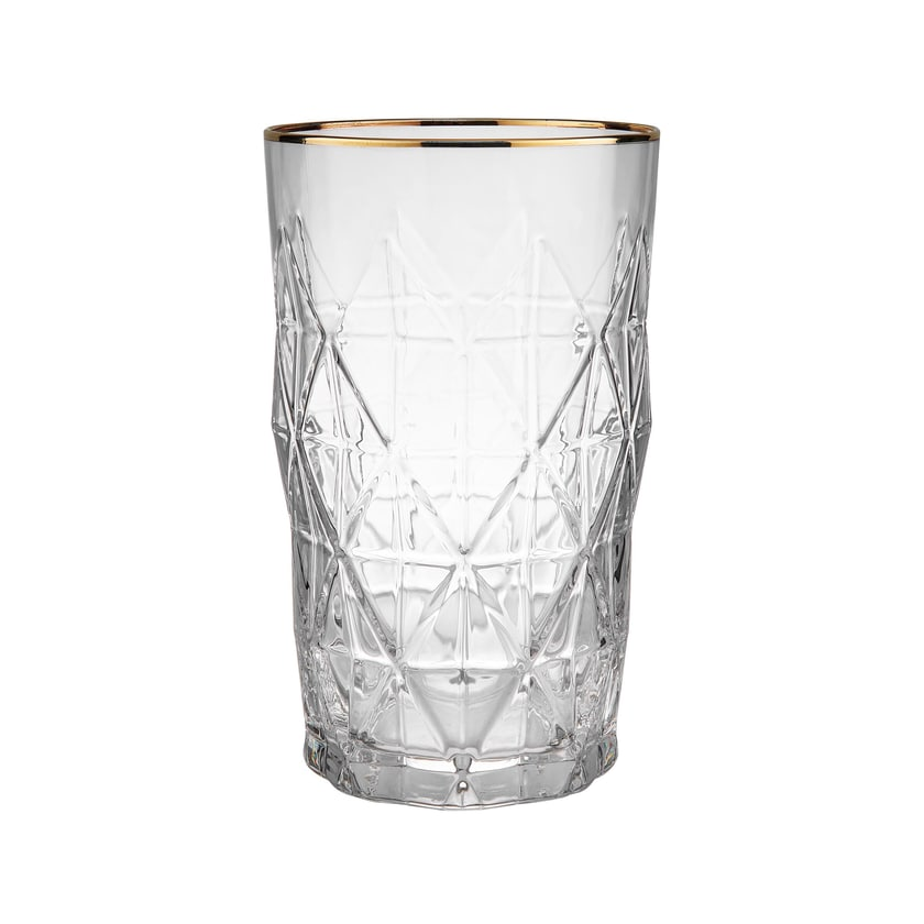 Butlers Upscale 6x Longdrinkglas mit Goldrand 460ml