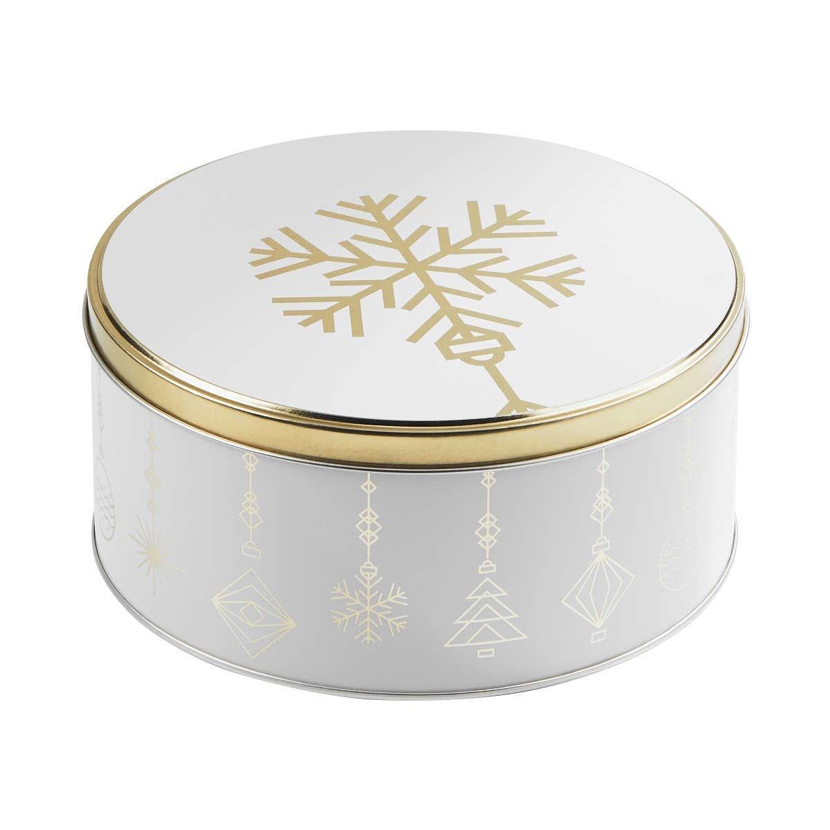 Butlers Cookie Jar Dose Schneeflocke Ø 16,7 cm weiss-gold