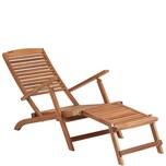Butlers Weekender Liegestuhl mit Fußteil braun