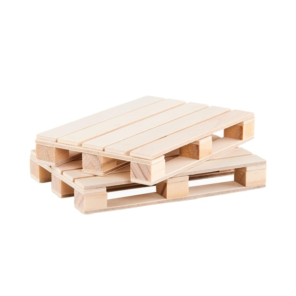 Butlers Warehouse Palletten Untersetzer 2er-Set