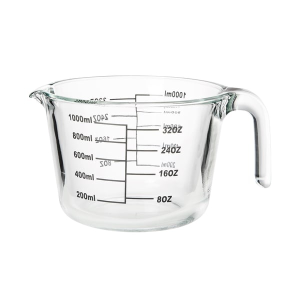 Butlers Recipe Messbecher aus Glas 1 L