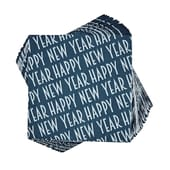 Butlers APRÈS Papierserviette Happy New Year blau