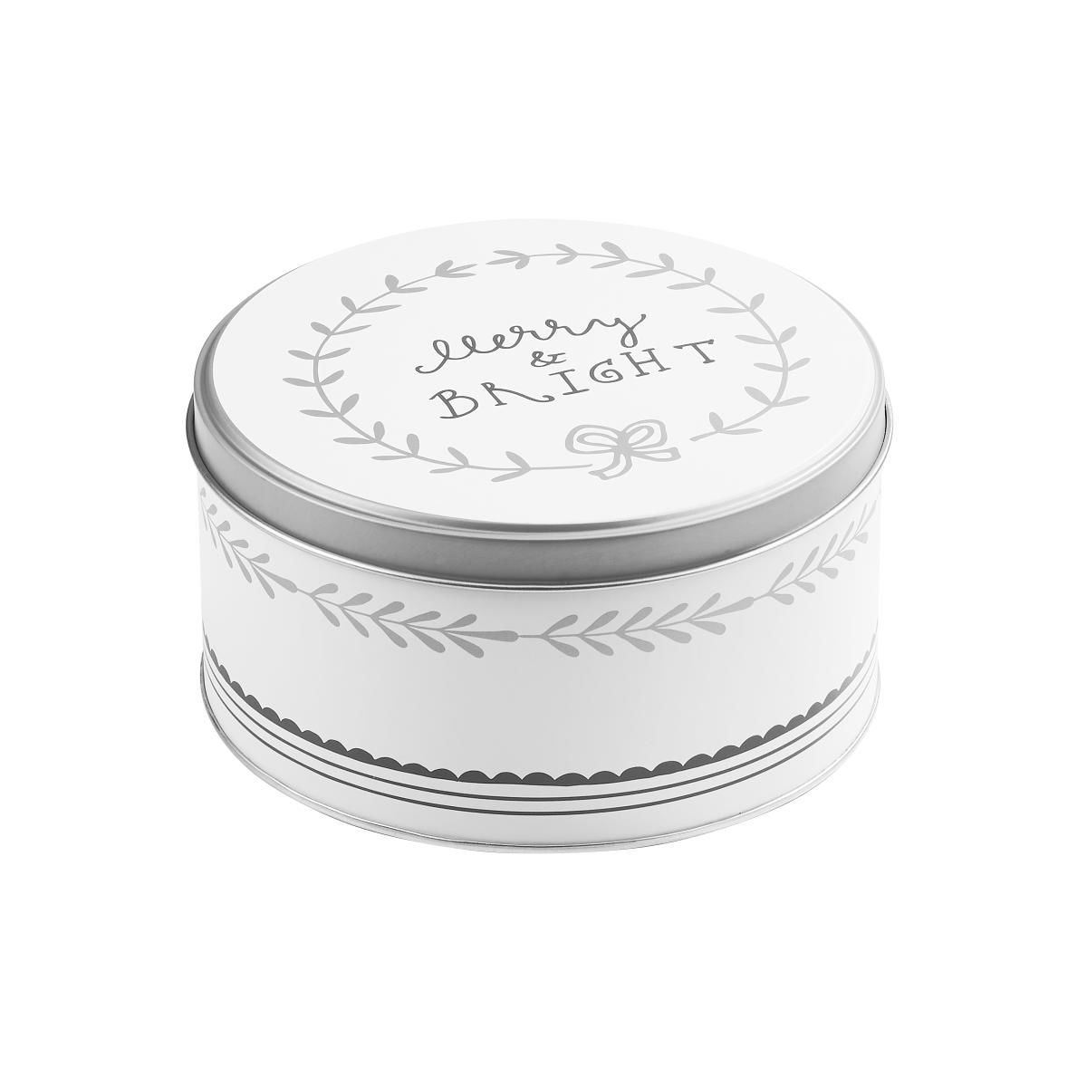 Butlers Cookie Jar Dose Merry & Bright Ø 13,5 cm weiss-silber