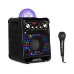 Auna Rockstar LED Karaokeanlage schwarz
