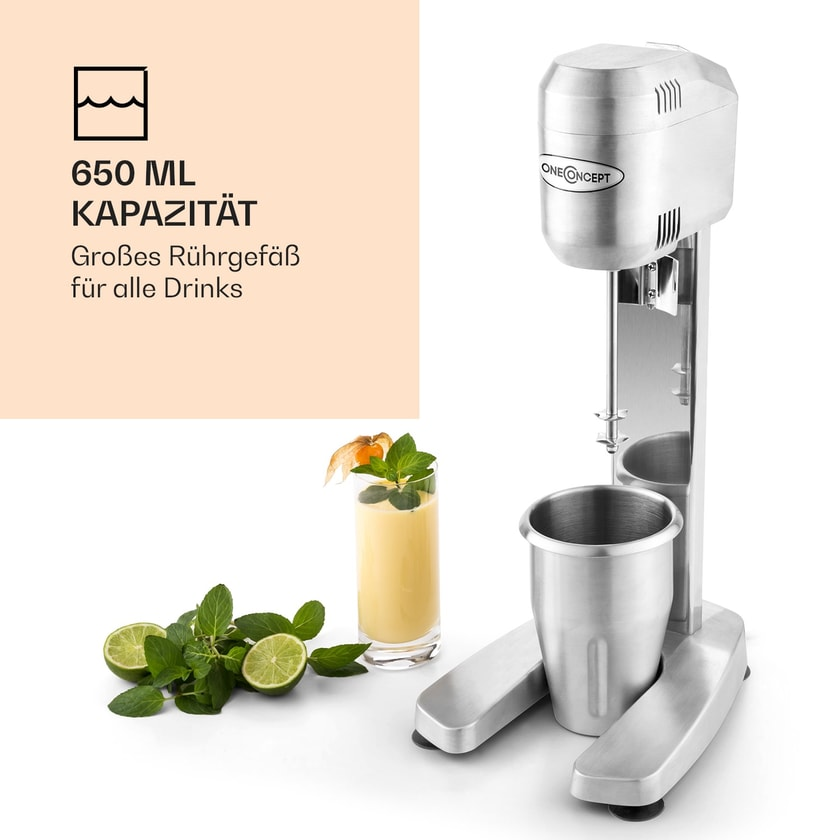 oneconcept DM-B Drink Mixer Gastro-Barmixer 400W 16000 U/min 650ml
