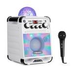 Auna Rockstar LED Karaokeanlage weiß