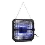Waldbeck Skyfall SQ Insektenvernichter 16W 50m² UV-Lampen Auffangschale Kette schwarz