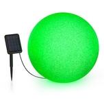 Blumfeldt Shinestone Solar 50 Kugelleuchte Solarpanel Ø50cm RGB-LED IP68 Akku grau meliert