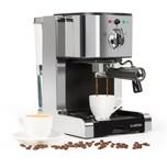 Klarstein Passionata 15 Espressomaschine 15 bar Capuccino Milchschaum silber