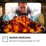 Klarstein Brilliance Pro Mikrowelle 43 Liter Grill Umluft Touchpanel Edelstahl