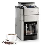 Klarstein Aromatica X Kaffeemaschine mit integriertem Mahlwerk silber