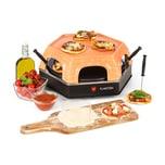 Klarstein Capricciosa Pizzaofen 1500W Abdeckung aus Terracotta Warmhaltefunktion