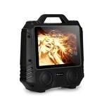 """auna CenterStage 4 mobiler Karaoke-Lautsprecher, 30 W, 14,1"""" Display, Funk-Mikro"""