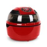 Klarstein VitAir Heißluftfritteuse 1400W Grillen Backen 9 Liter rot