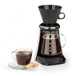 Klarstein craft coffee Waage Timer Glaskanne Filteraufsatz 600ml schwarz/weiß