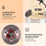 Klarstein Lucia Küchenmaschine 3-in-1 2000 W / 2,7 PS 5 Ltr Edelstahl BPA-frei