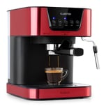 Klarstein Arabica Espressomaschine 1050W 15 Bar 1,5l Touch-Bedienfeld Edelstahl