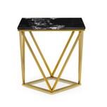 Besoa Black Onyx II Couchtisch 50x55x35cm (BxHxT) Marmor Gold / Schwarz