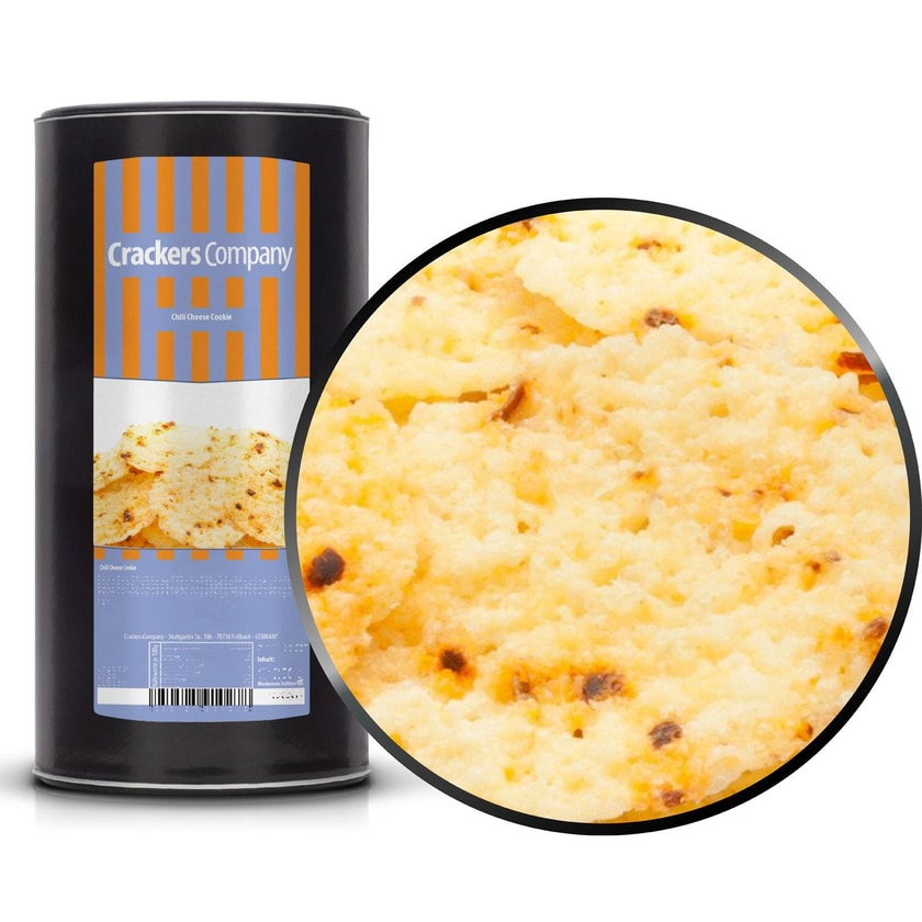 Chili Cheese Cookie - Gauda Käse mit geschrotetem Chili - Membrandose groß 200g
