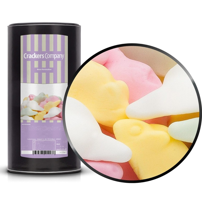 Mouse Marshmallow - Bunte Marshmallow-Mäuse - Membrandose groß 600g