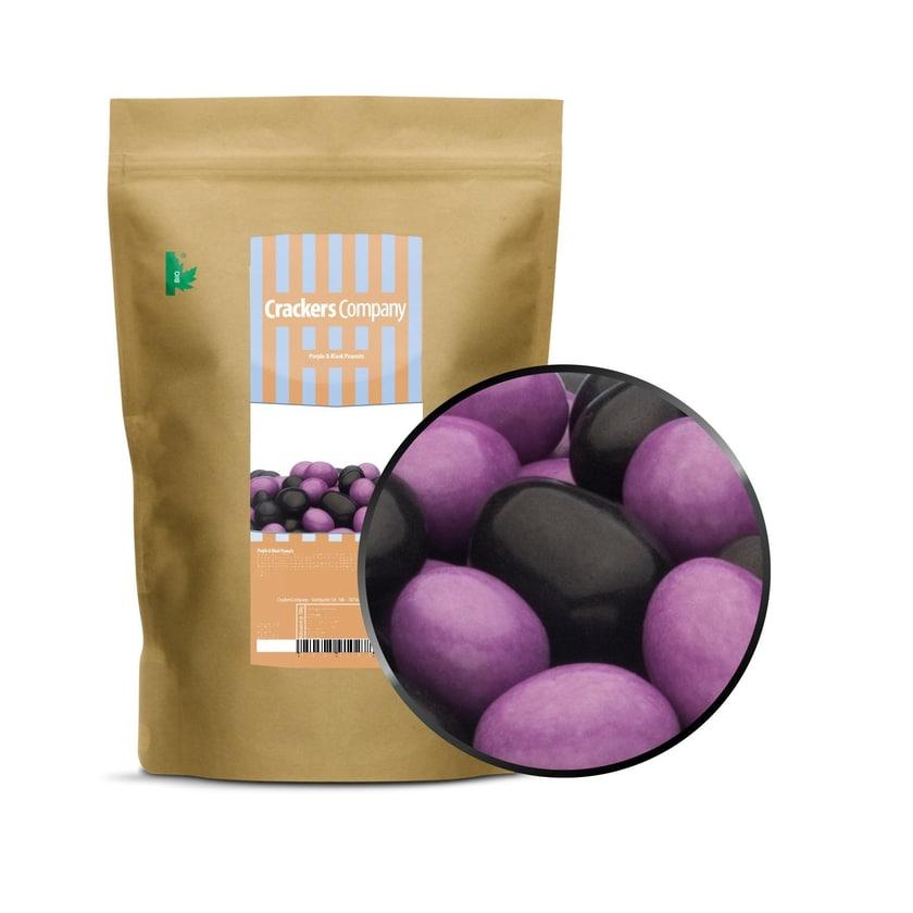Purple & Black Peanuts - Vollmilchschokonüsse Lila und Schwarz - ZIP Beutel 750g