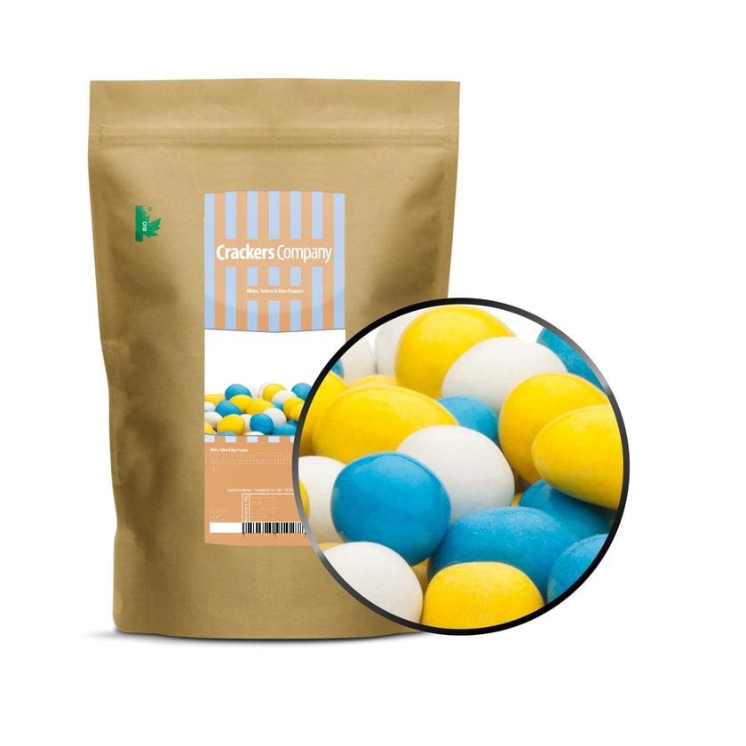 White, Yellow & Blue Peanuts - Vollmilchschokonüsse Weiß, Gelb und Blau - ZIP Beutel 750g